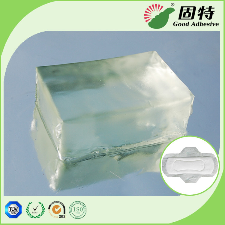 Light Transparent PSA Hot Melt Adhesive Block For Sanitary Napkin Adult Diaper