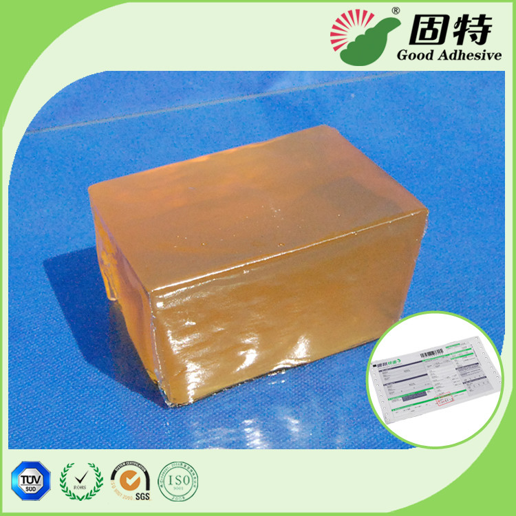 Industrial Pressure Sensitive Hot melt  Adhesive Glue For Packaging Express Bill Sealing PSA Yellow and semi-transprant