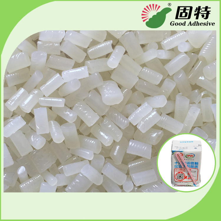 Short Setting Time Hot Melt Glue Pellets For Straw Attachment On Beverage Boxes Such As Milk Box